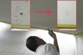 天井穴補修